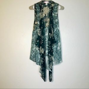 Band of gypsies paisley sheer cover up vest sz S